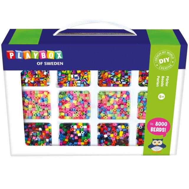 Playbox Pärlset 12 Färger Pastell Rand