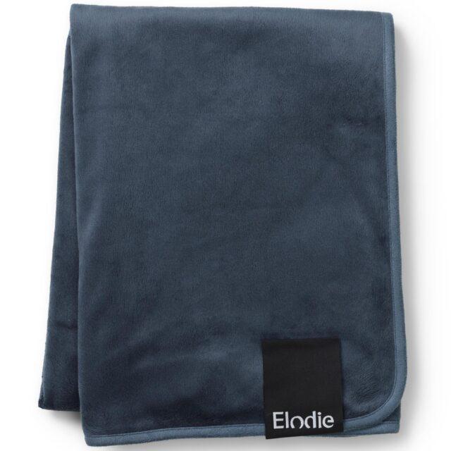 Elodie Details Pärlsammetsfilt Juniper Blue