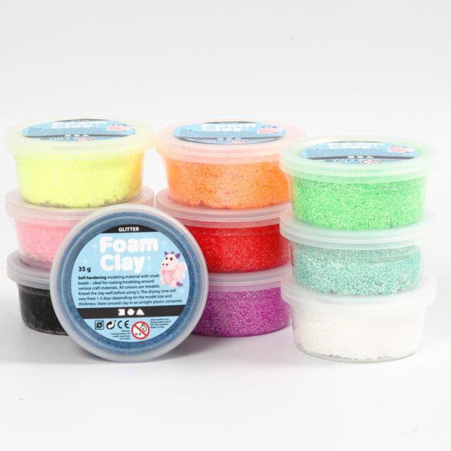 Silk Clay Leklera Mixade Färger Glitter 10x35g