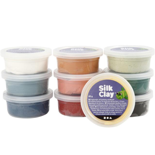 Silk Clay Leklera Mixade Färger Dova Färger 10x4
