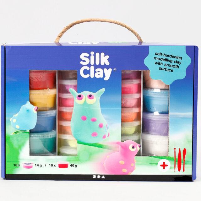 Silk Clay Presentask Leklera Mixade Färger