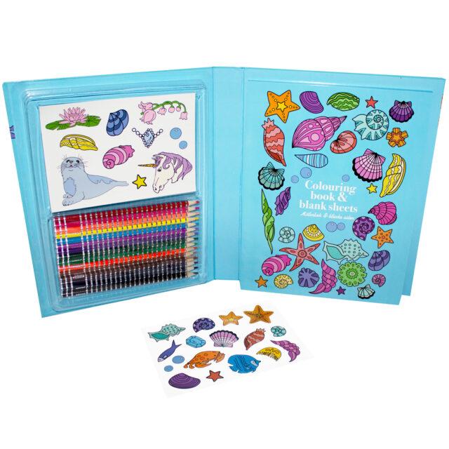 Sense Målarbox med pennor och stickers