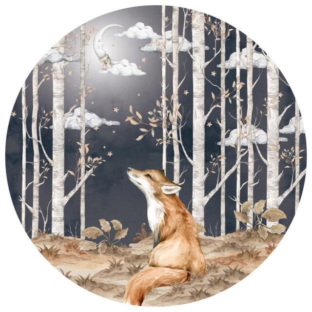Väggdekor - Räven och månen