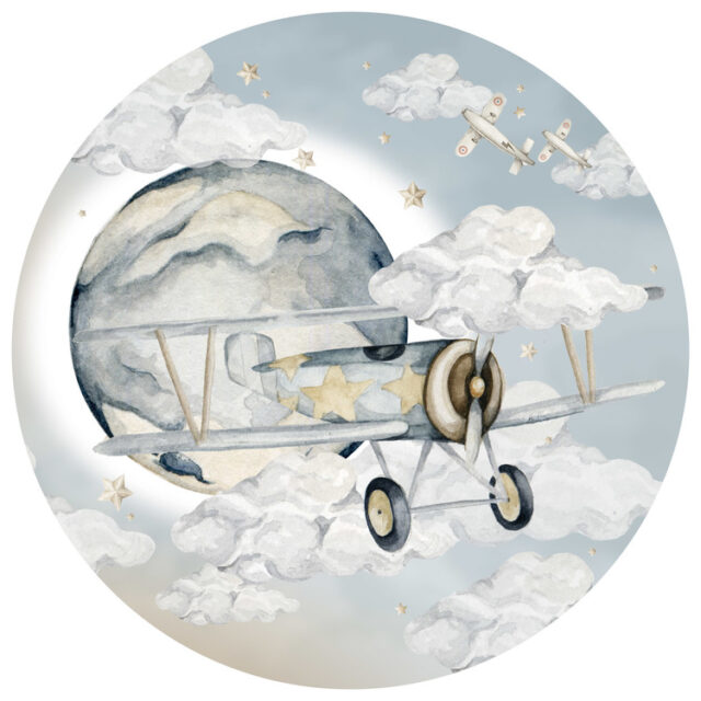 Väggdekor - plane in a circle