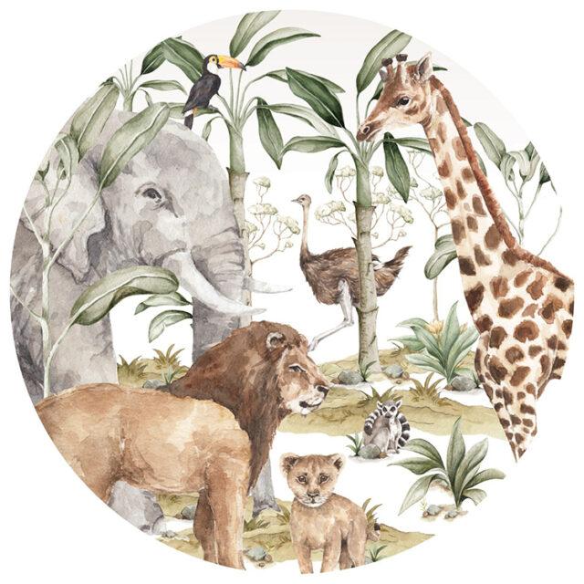 Väggdekor - djur på savannen