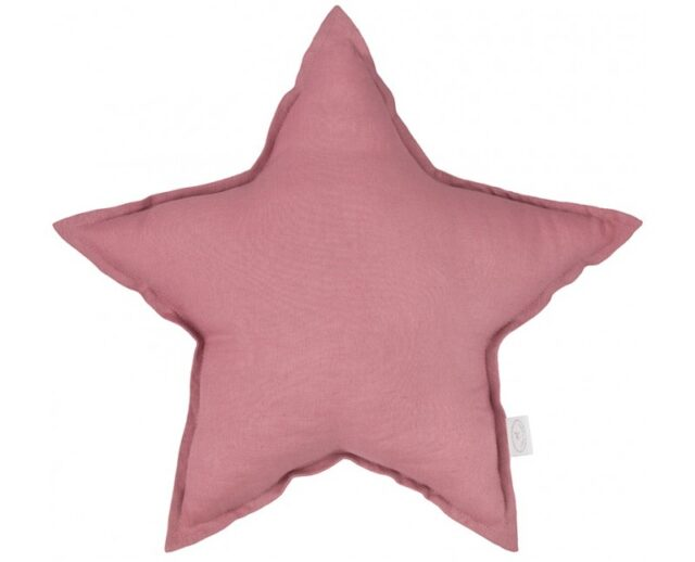 Cotton & Sweets Linen Stjärnkudde – Blush