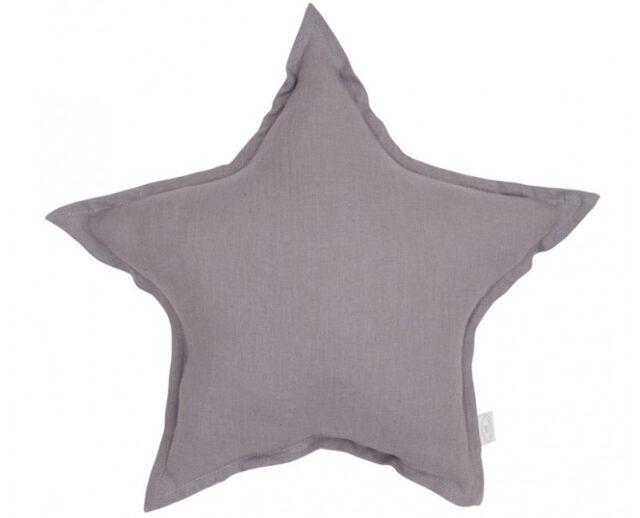 Cotton & Sweets Linen Stjärnkudde – Denim