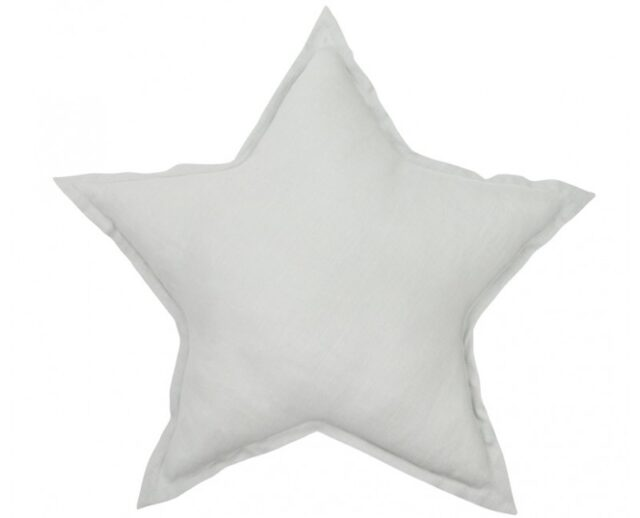 Cotton & Sweets Linen Stjärnkudde – Light Grey