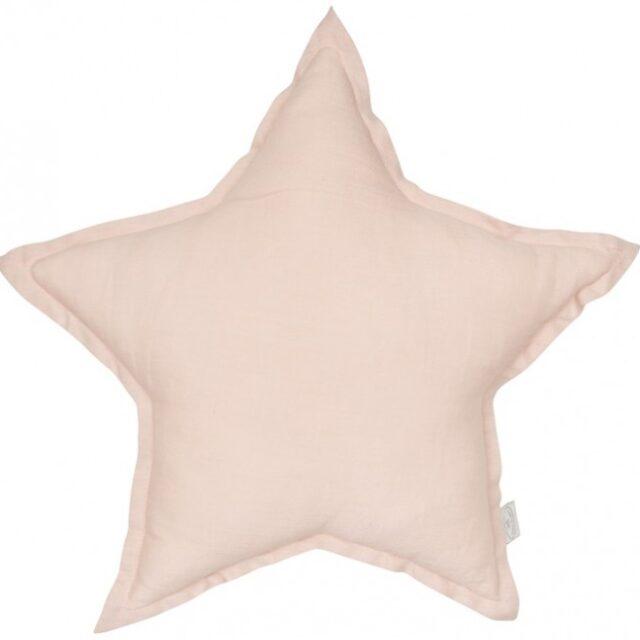 Cotton & Sweets Linen Stjärnkudde – Powder Pink