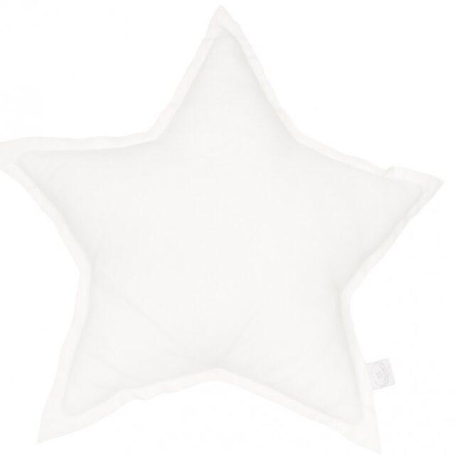 Cotton & Sweets Linen Stjärnkudde – White