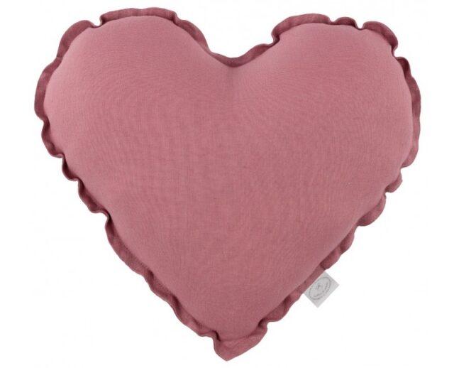 Cotton & Sweets kudde hjärta - Blush