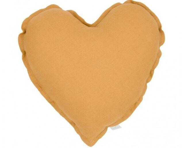 Cotton & Sweets kudde hjärta - Caramel