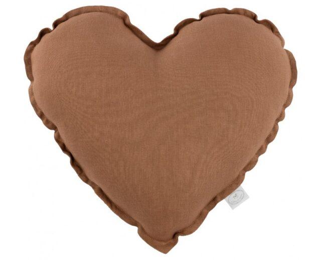 Cotton & Sweets kudde hjärta - Chocolate