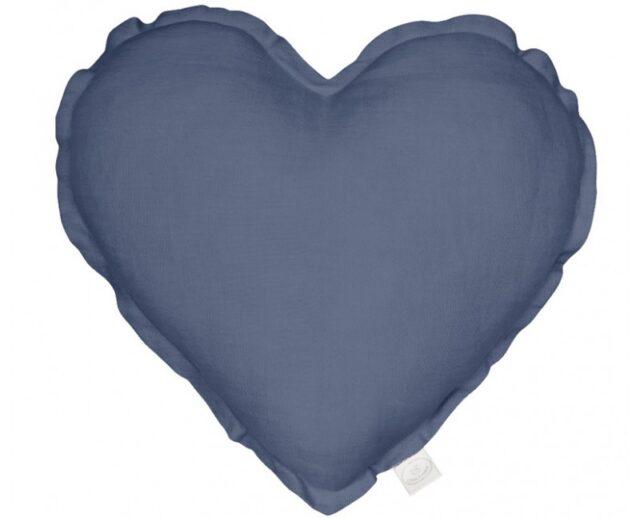 Cotton & Sweets kudde hjärta - Denim