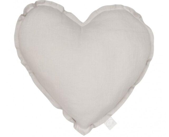 Cotton & Sweets kudde hjärta - Grey