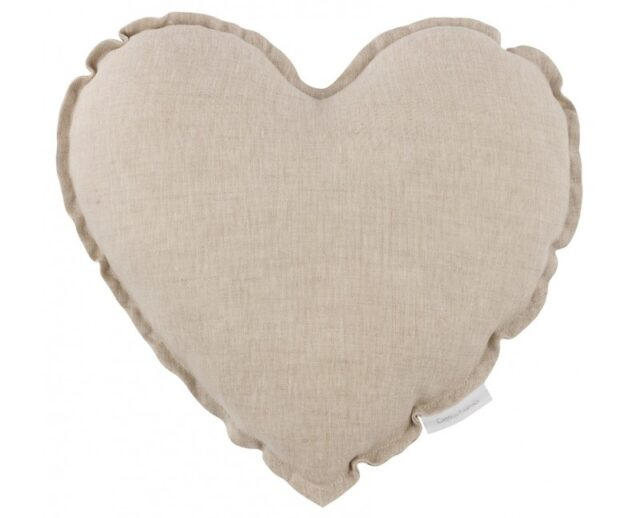 Cotton & Sweets kudde hjärta - Natural
