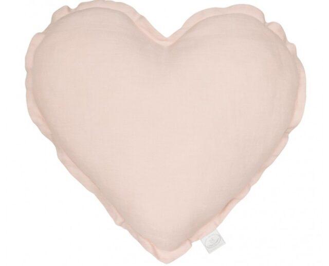 Cotton & Sweets kudde hjärta - Powder Pink