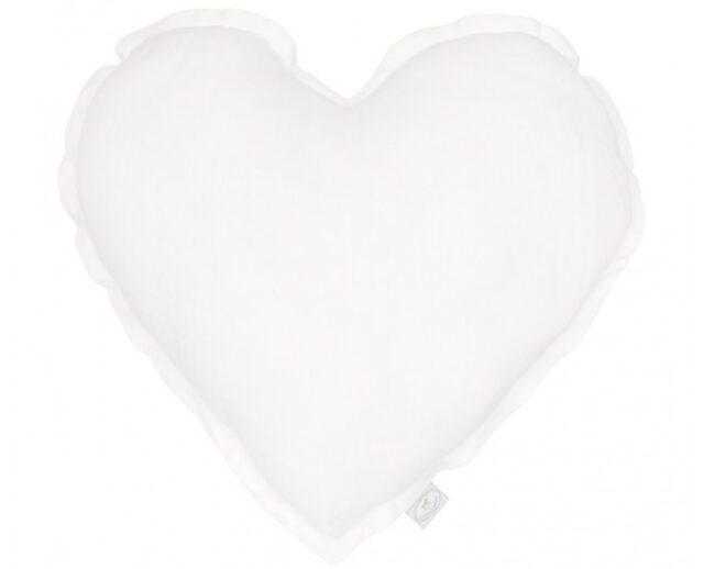 Cotton & Sweets kudde hjärta - White