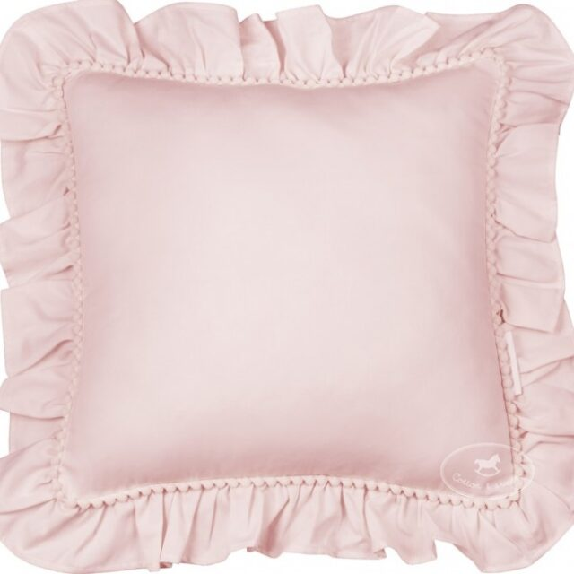 Pillow Bho with ruffles Powder pink